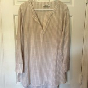 Vinyard Vines Khaki striped linen tunic Size XL